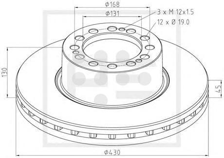 06625200A PE AUTOMOTIVE Диск торм вентилир.