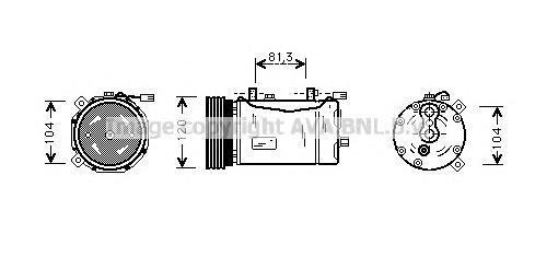 VWAK172 AVA Компрессор, кондиционер