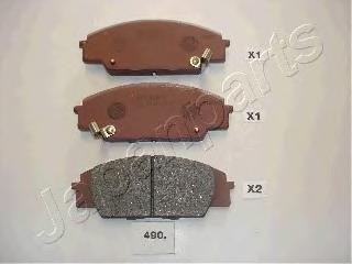 PA490AF JAPANPARTS Комплект тормозных колодок, дисковый тормоз