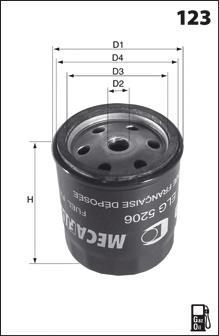 Топливный фильтр MECAFILTER ELG5272