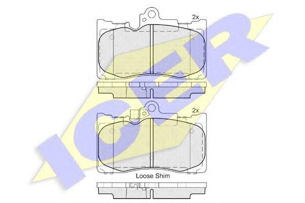 182059 ICER Колодки тормозные дисковые, комплект
