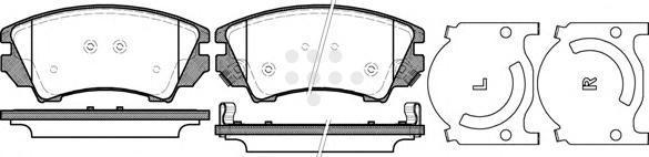 Комплект тормозных колодок, дисковый тормоз ROAD HOUSE 2137512