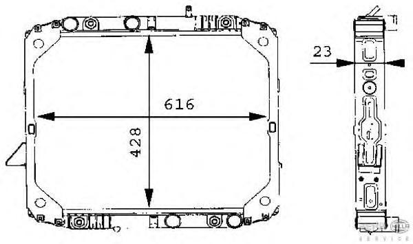 8MK376709701 HELLA Радиатор, охлаждение двигателя