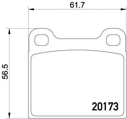 2017301 TEXTAR Комплект тормозных колодок, дисковый тормоз