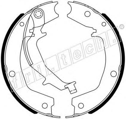 Комплект тормозных колодок, стояночная тормозная система FRI.TECH. 1049172