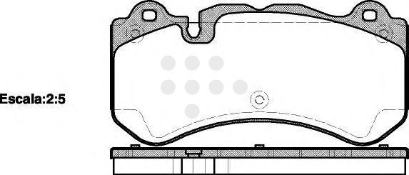 Комплект тормозных колодок, дисковый тормоз ROAD HOUSE 2127900