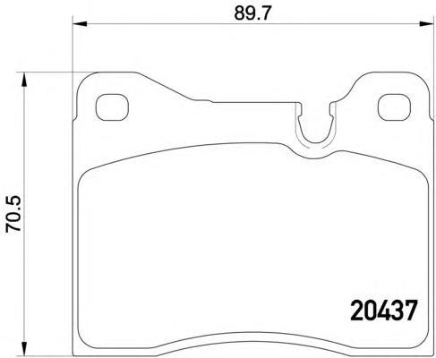 2043702 TEXTAR Комплект тормозных колодок, дисковый тормоз