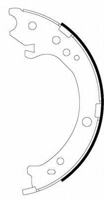 91072300 TEXTAR Комплект тормозных колодок, стояночная тормозная система
