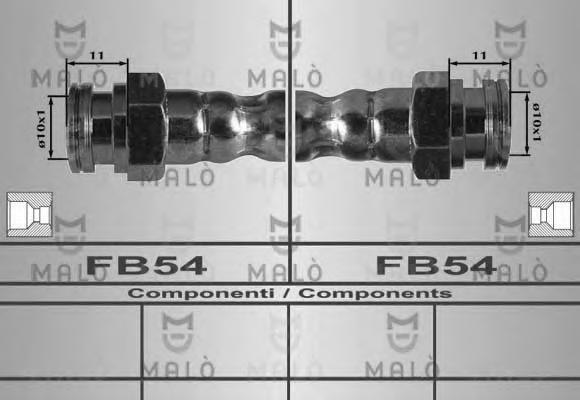 80509 MALO Тормозной шланг