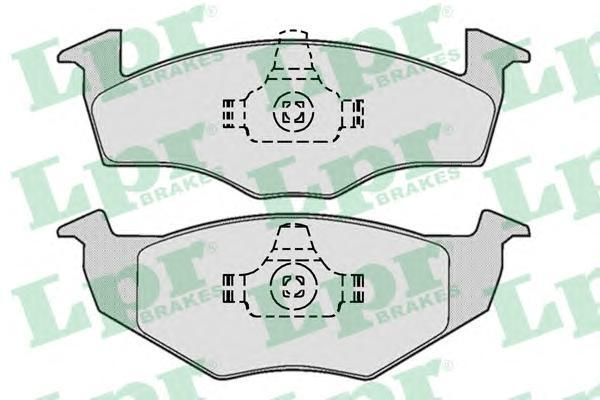 05P667 LPR Комплект тормозных колодок, дисковый тормоз