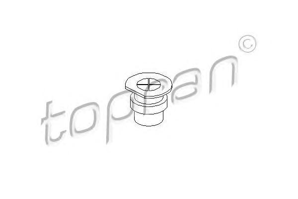 107135 TOPRAN Пробка, фланец охлаждающей жидкости