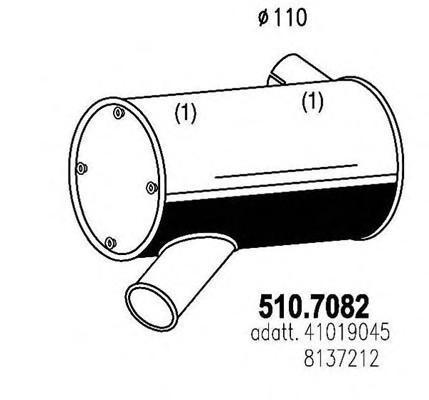 Система выпуска ОГ ASSO 5107082