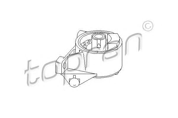 206567 HANS PRIES Подвеска, двигатель