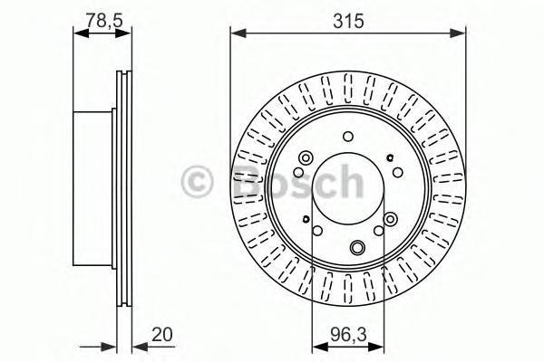0986479793 BOSCH Тормозной диск