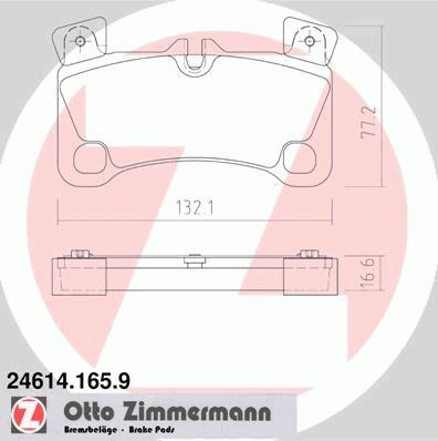246141659 ZIMMERMANN Комплект тормозных колодок, дисковый тормоз