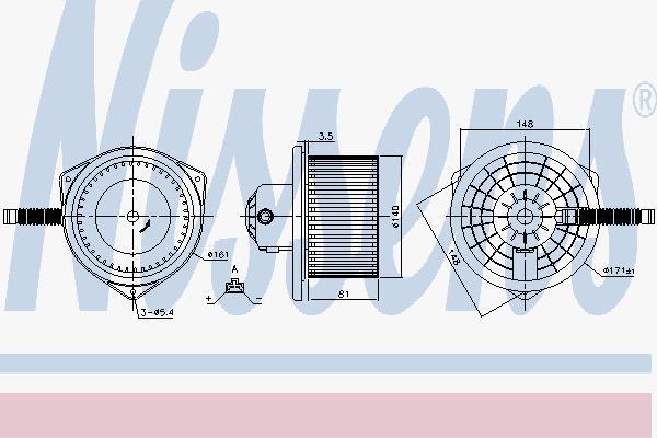Вентилятор салона NISSENS 87142