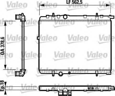 732891 VALEO Радиатор, охлаждение двигателя