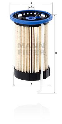 PU80081 MANN-FILTER Топливный фильтр