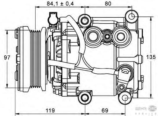 8FK351113401 BEHR-HELLA Компрессор, кондиционер