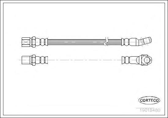 19018480 CORTECO Тормозной шланг