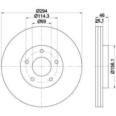 92184403 TEXTAR Диск тормозной TEXTAR