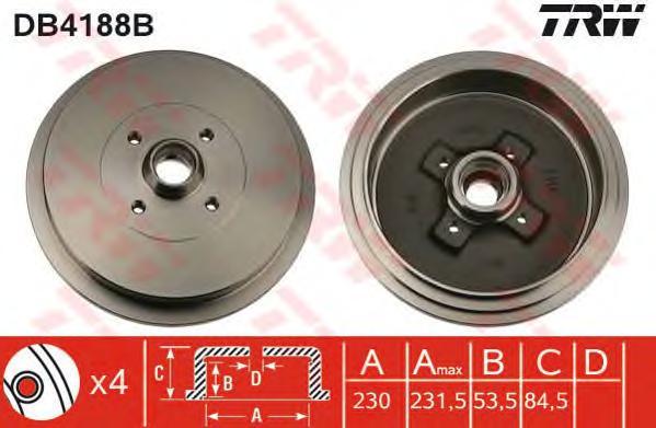 Тормозной барабан TRW DB4188B