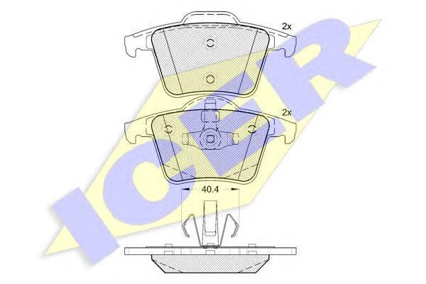 Колодки тормозные дисковые передние ICER 181612