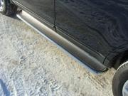 HYUNSF1110 ТСС Пороги с площадкой (нерж. лист) 42,4 мм для Hyundai Santa Fe (2010-2012)