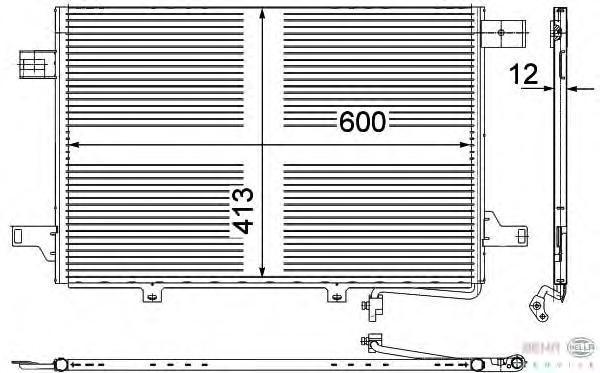 8FC351303431 BEHR-HELLA Конденсатор, кондиционер