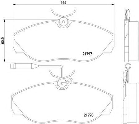 8DB355018141 BEHR-HELLA Комплект тормозных колодок, дисковый тормоз