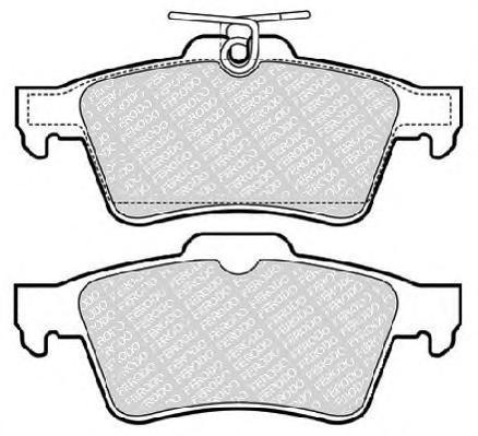 Комплект тормозных колодок, дисковый тормоз FERODO FDB1766