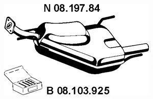 Глушитель выхлопных газов конечный EBERSPACHER 0819784