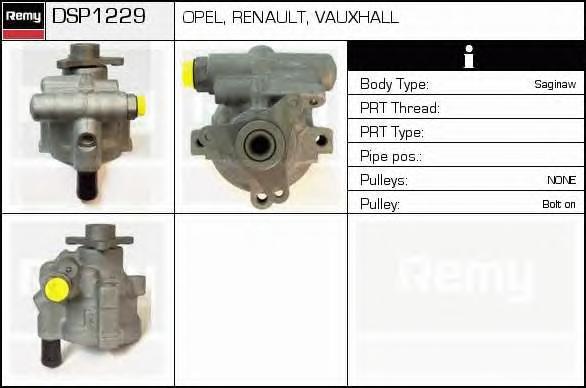Гидравлический насос, рулевое управление DELCO REMY DSP1229