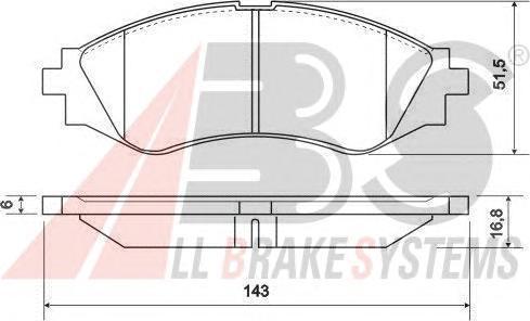 Колодки тормозные дисковые, комплект ABS 37055
