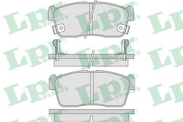 05P796 LPR/AP Комплект тормозных колодок, дисковый тормоз