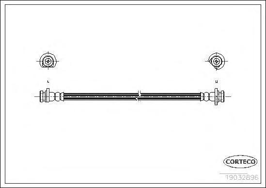 19032986 CORTECO Тормозной шланг