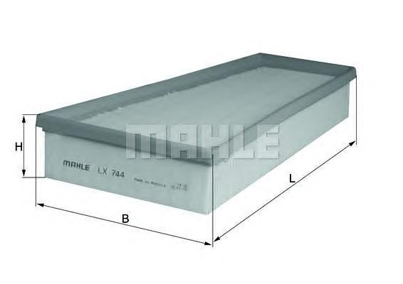 LX744 MAHLE Воздушный фильтр