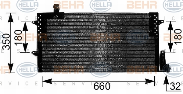 8FC351036791 HELLA Конденсатор, кондиционер