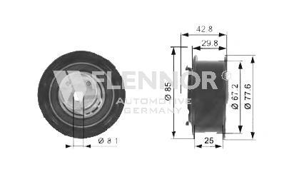 Натяжной ролик, ремень ГРМ FLENNOR FS00029