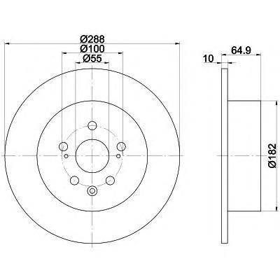 92135903 TEXTAR Диск тормозной