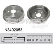 N3402053 NIPPARTS Тормозной барабан