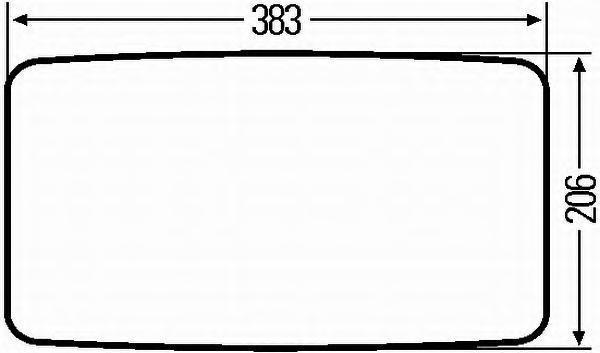 Наружное зеркало HELLA 8SB501325032