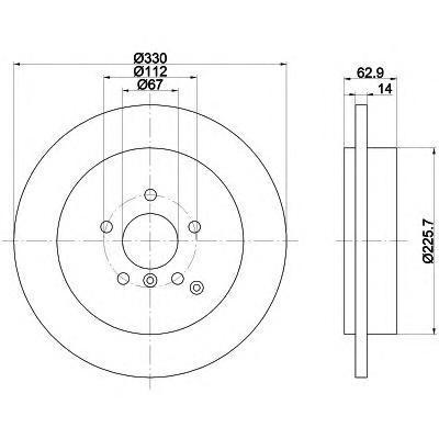 92150803 TEXTAR Тормозной диск
