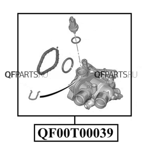 QF00T00039 QUATTRO FRENI Термостат