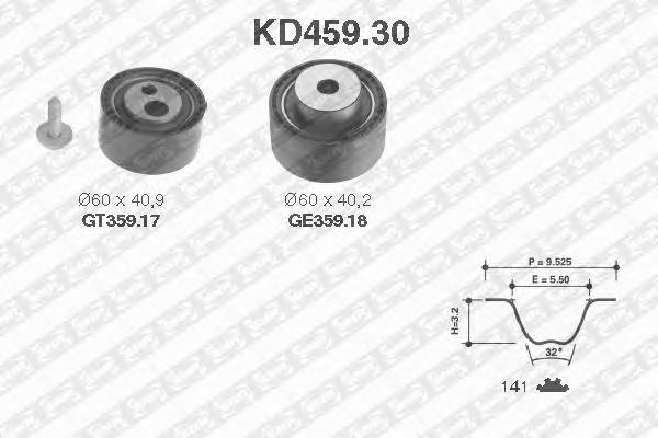 KD45930 NTN-SNR Комплект ремня ГРМ