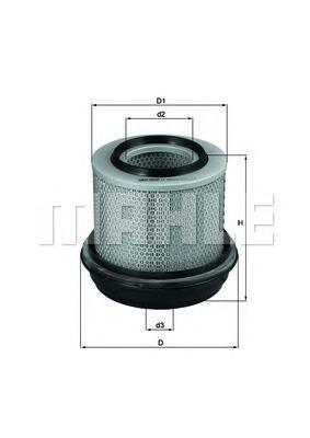 LX269 MAHLE/KNECHT Воздушный фильтр