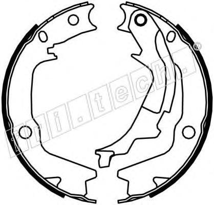 Комплект тормозных колодок, стояночная тормозная система FRI.TECH. 1046222