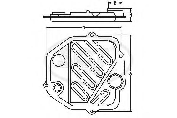 Комплект гидрофильтров, автоматическая коробка передач SCT SG1028
