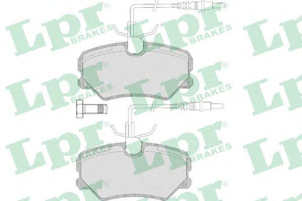 05P636 LPR Комплект тормозных колодок, дисковый тормоз