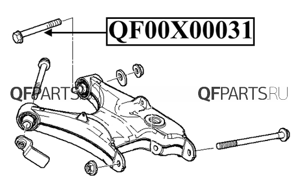QF00X00031 QUATTRO FRENI Болт с эксцентриком